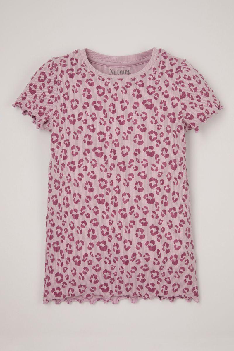 Leopard Ribbed T-Shirt 3-14yrs