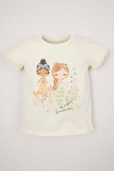 Mermaid Print T-Shirt