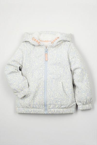 Blue Faux Fur Lined hoodie