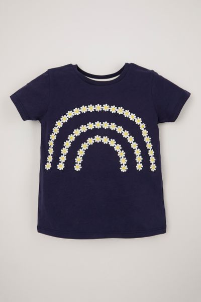Navy Daisy Chain T-Shirt