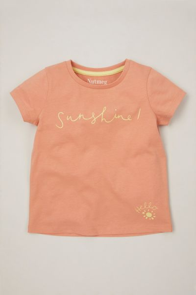 Peach Hello T-shirt