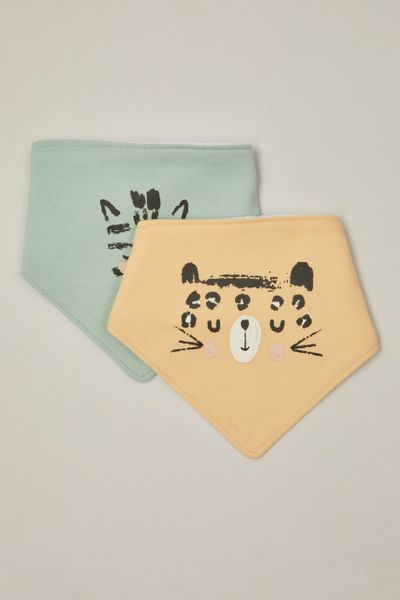 2 Pack Animal Bandana Bibs