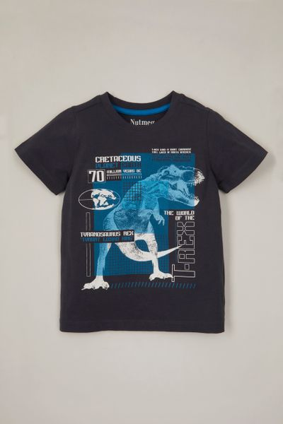Navy Dino Information T-shirt