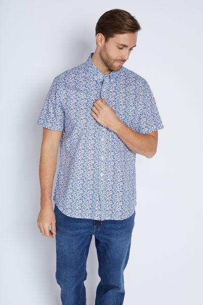 Navy Ditsy Print Shirt