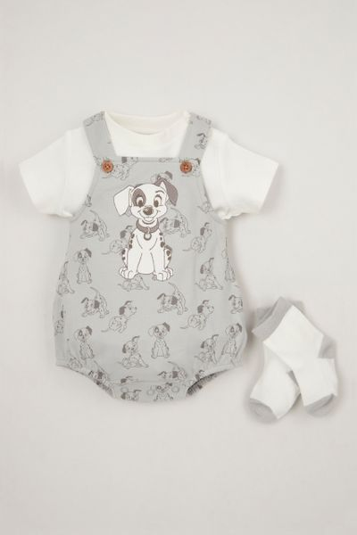Disney 101 Dalmatians 3 Piece Romper Set