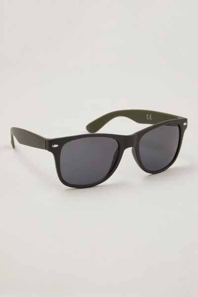 Black Metal Detail Sunglasses