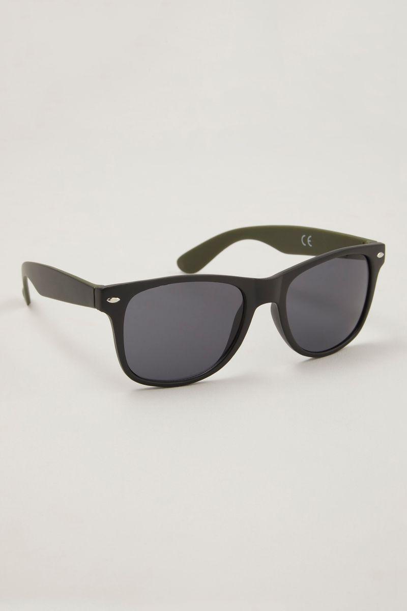 Black Metal Detail Sunglasses