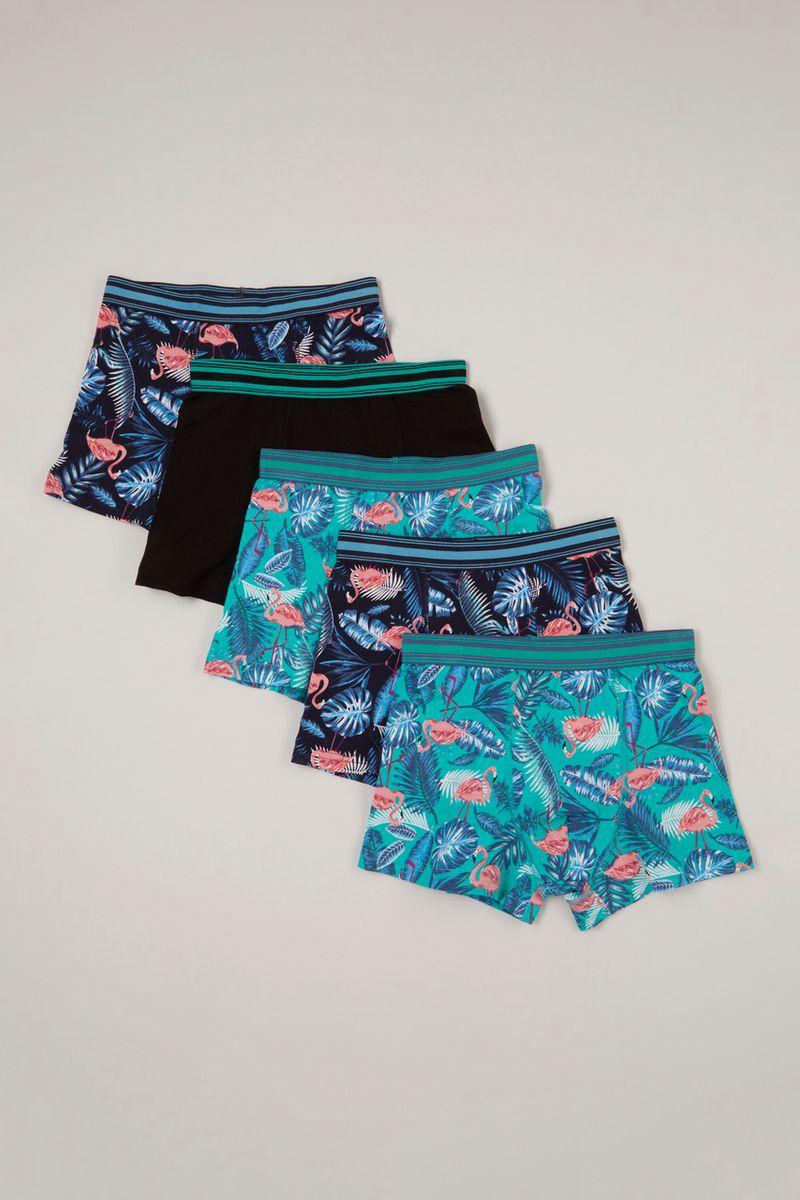 5 Pack Flamingo Trunks