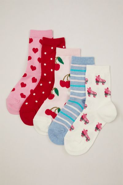 5 Pack Cherry Socks