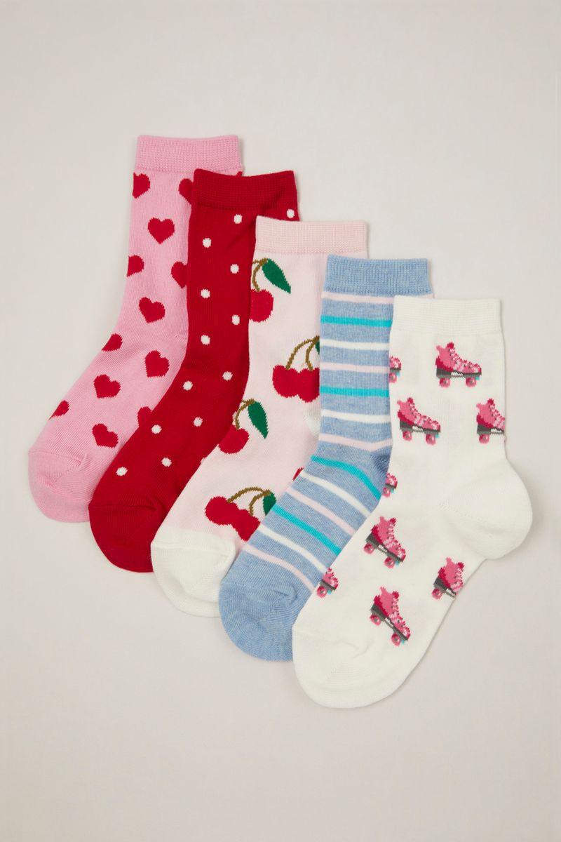 5 Pack Cherry Socks