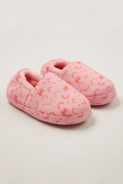 Pink Rainbow Slippers