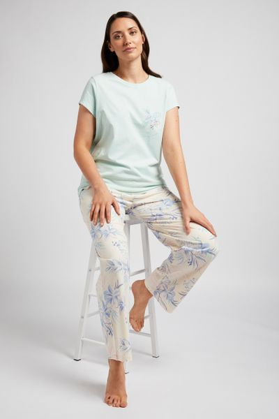 Tropical Slogan Print Pyjamas