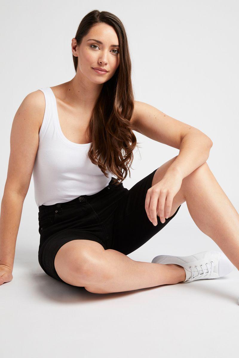 Black Longline Shorts