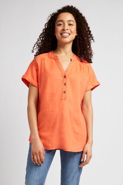 Orange Linen Shirt