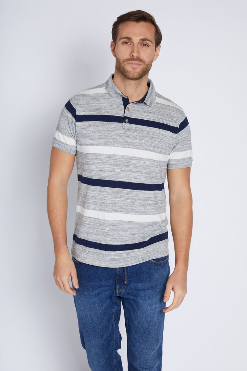 Navy & White Stripe Polo shirt
