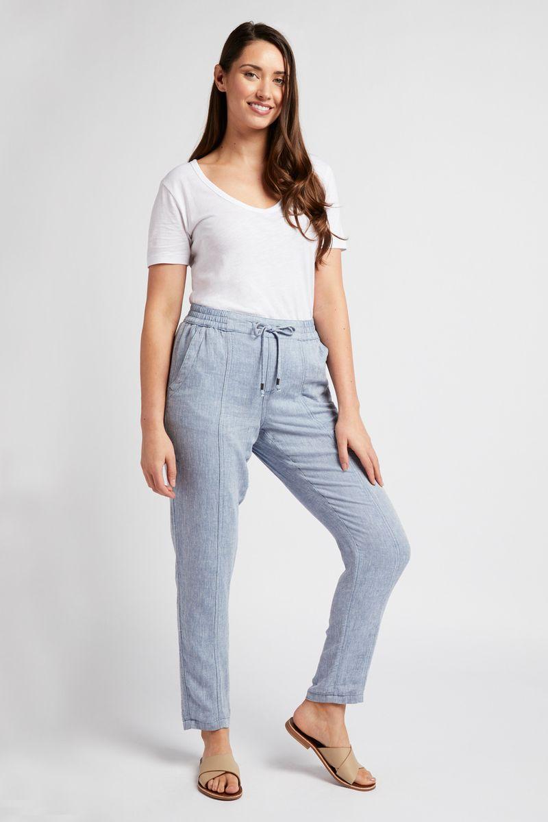 Light Blue Linen Trousers