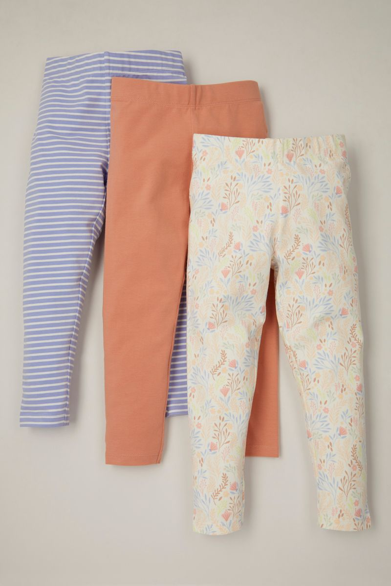 3 Pack Sea shell leggings