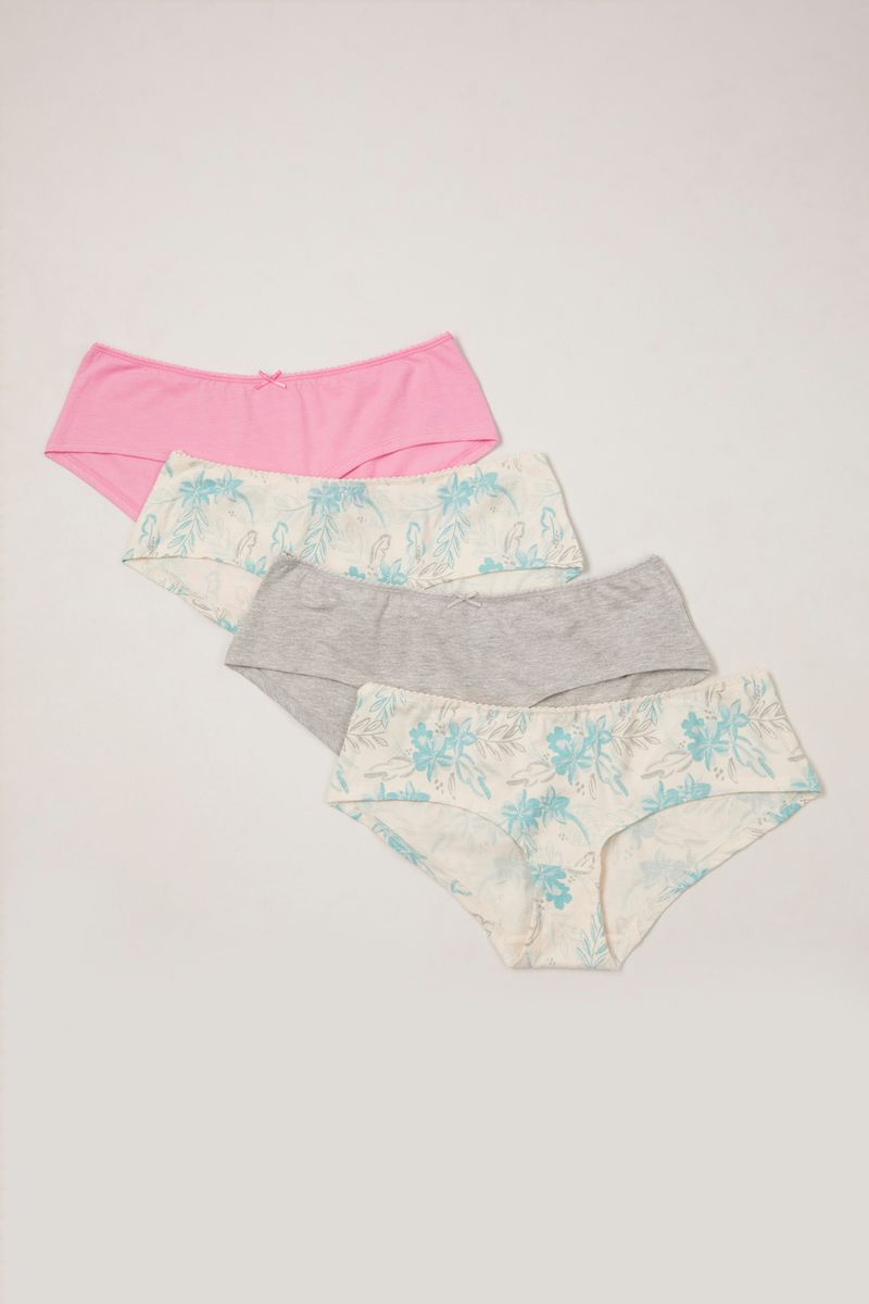 4 Pack Floral Shorts Briefs