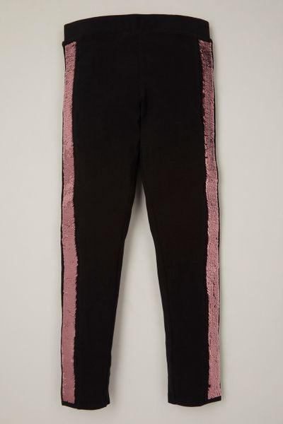 Reversible Sequin Black leggings