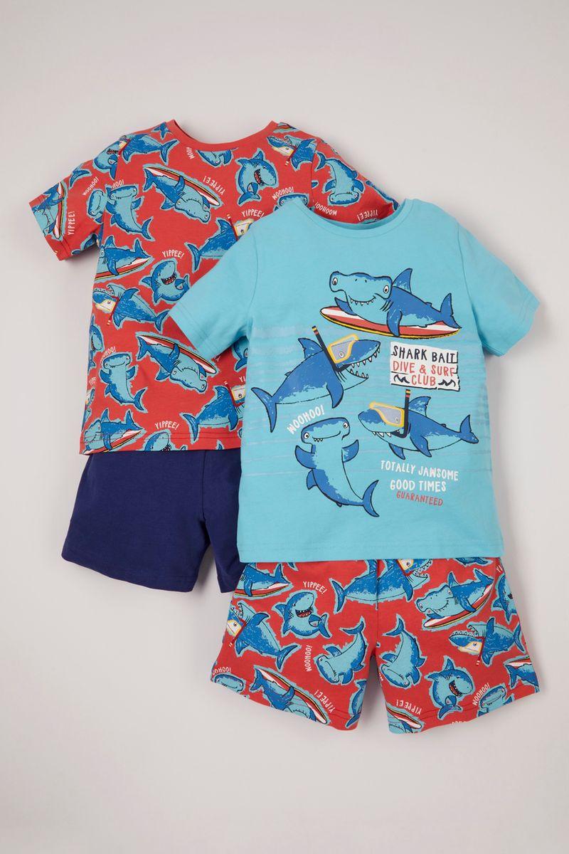 2 Pack Shark Pyjamas
