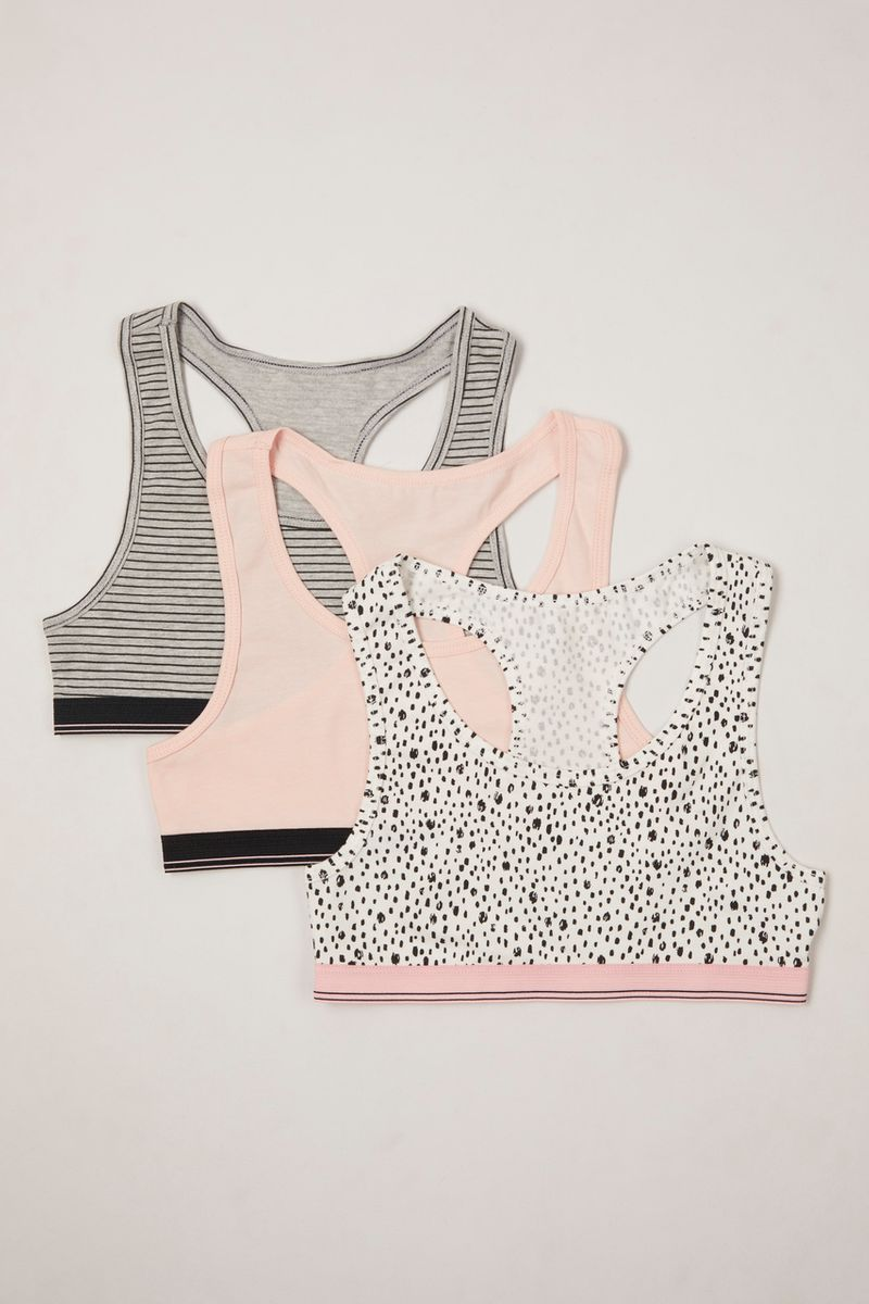 3 Pack Sports Crop Tops