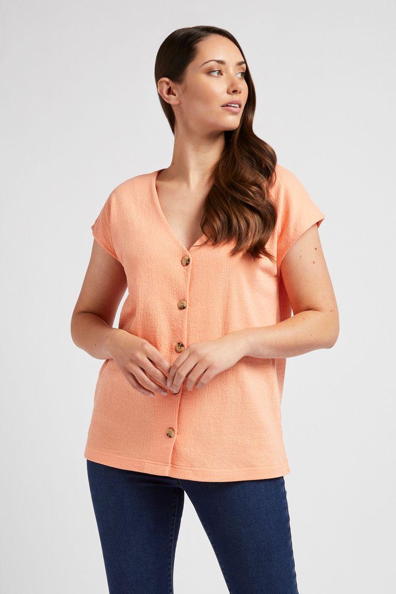 Apricot Button Top