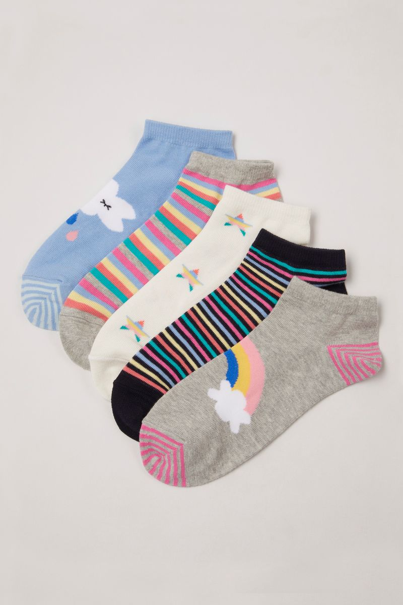 5 Pack Rainbow Trainer Liners