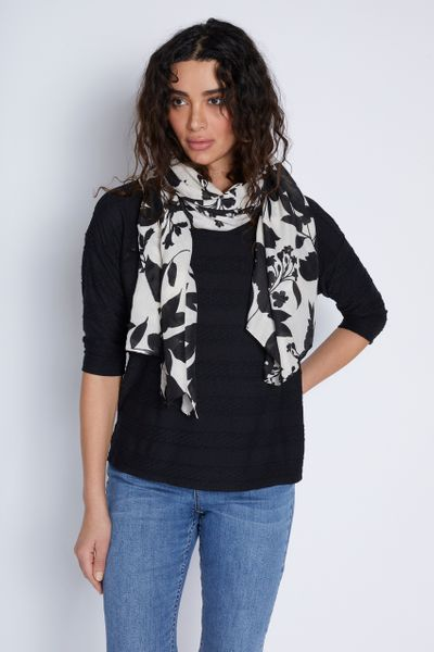 Monochrome Scarf Top