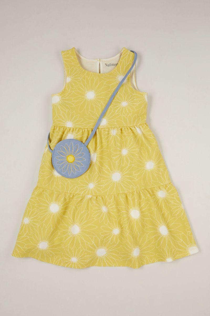 Sunflower Dress with Bag