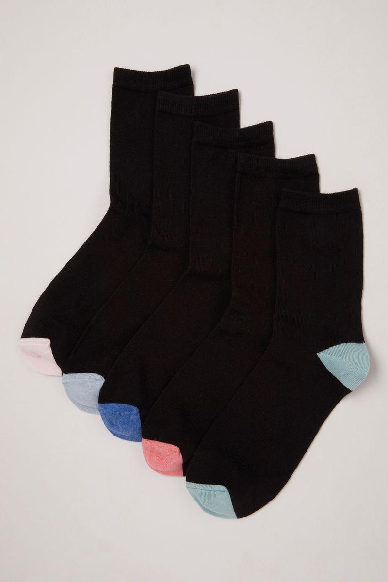 5 Pack Pastel Pink Blue Socks