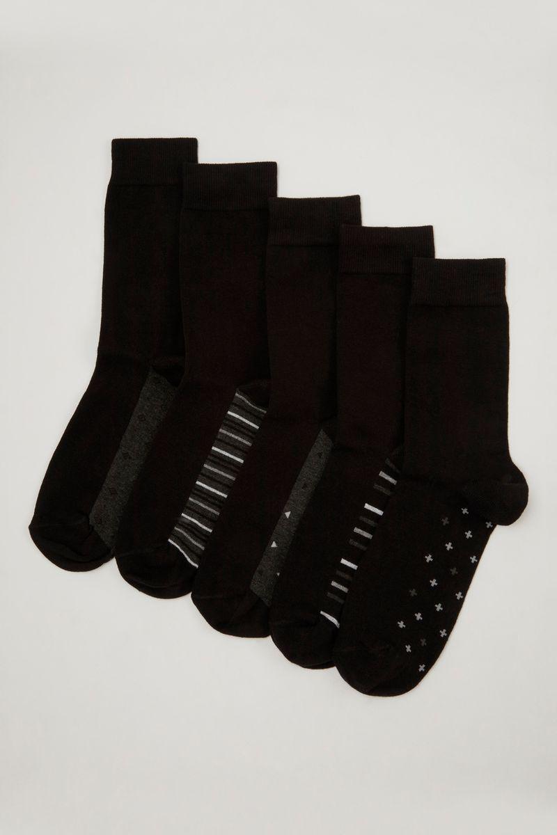 5 Pack  Stripe & Spot Socks