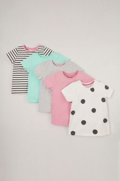 Online Exclusive 5 Pack Polka Dot T-shirts