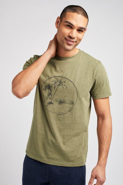 Khaki Palm Tree T-shirt