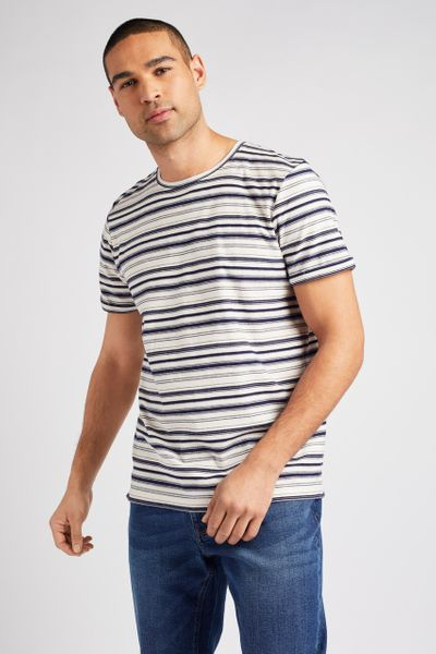 Blue Stripe Print T-shirt
