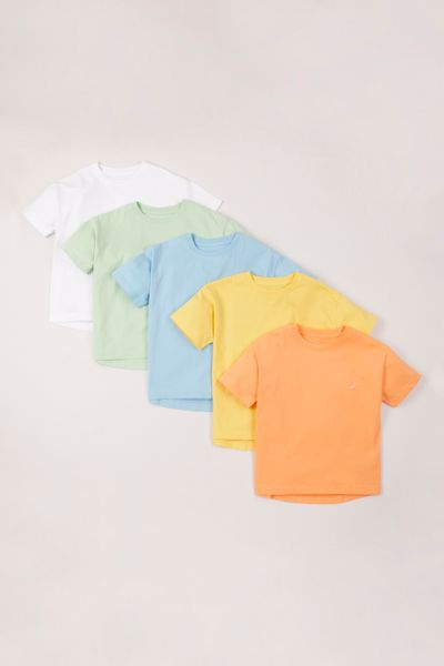 5 Pack Bright Pastel T-shirts