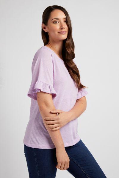 Lilac Linen Blend T-shirt