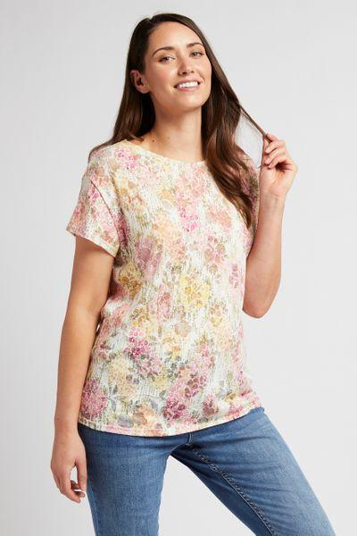 Floral Print Lightweight T-shirt