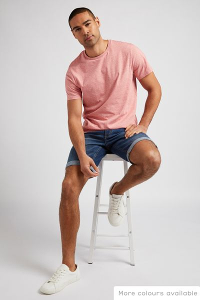 Blush Pink Crew Neck T-Shirt