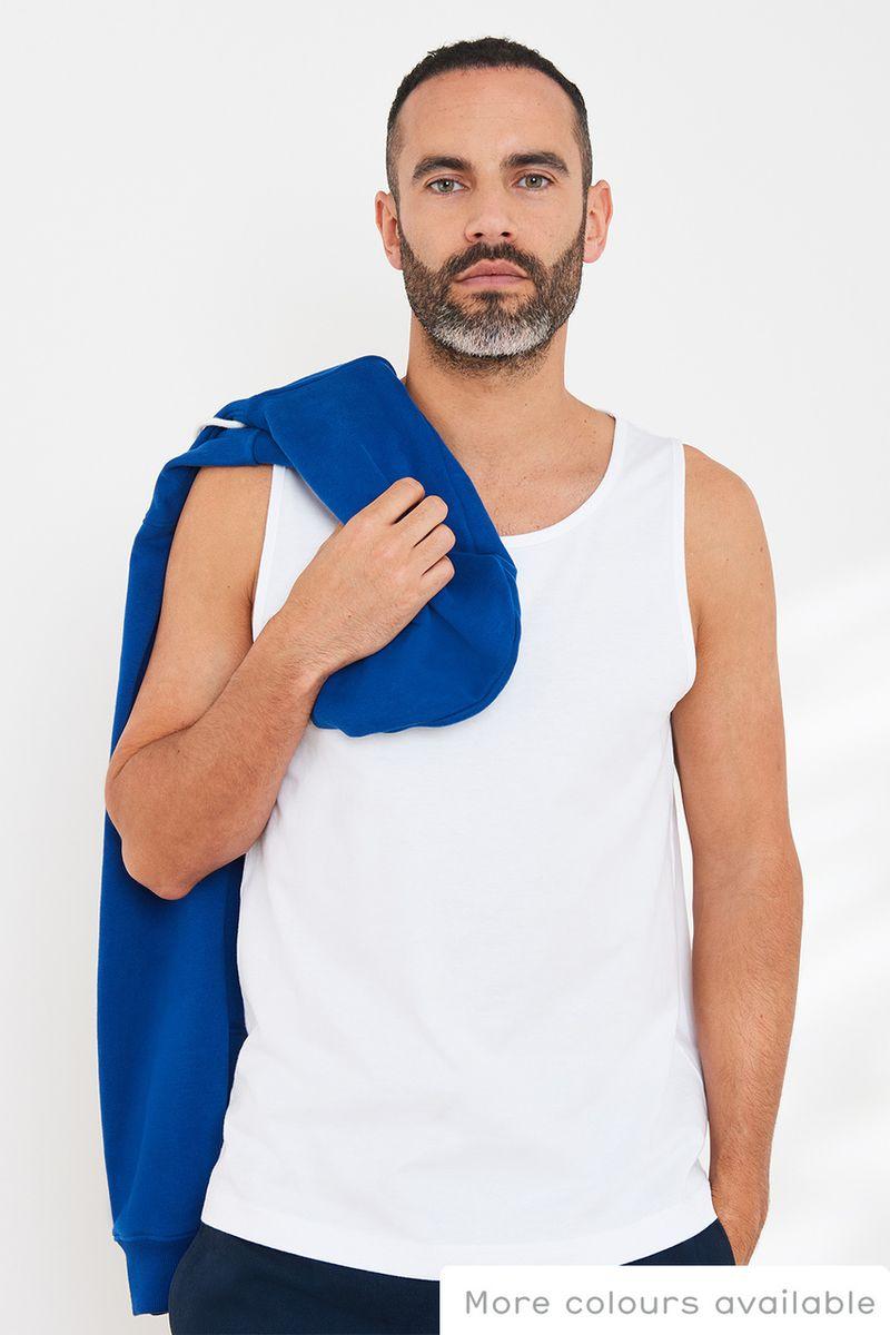 White Regular Fit vest