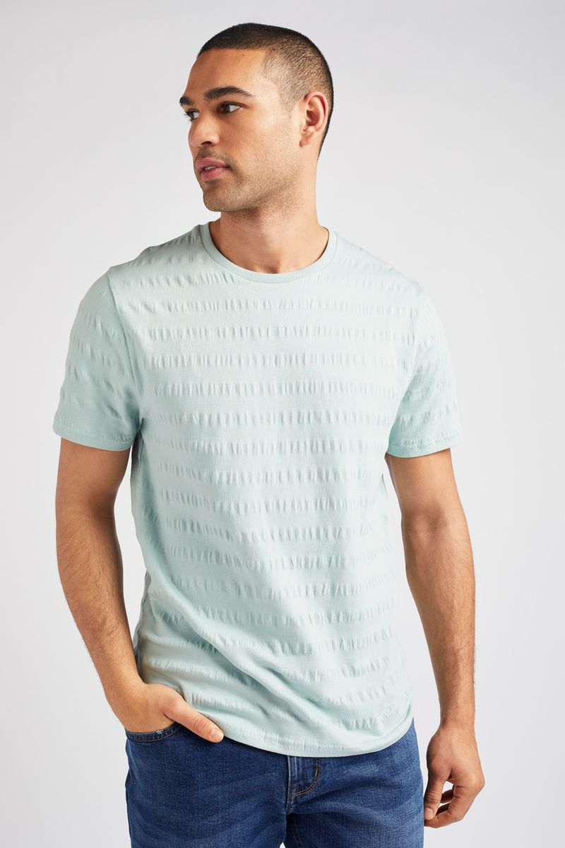 Mint Jacquard Stripe T-shirt