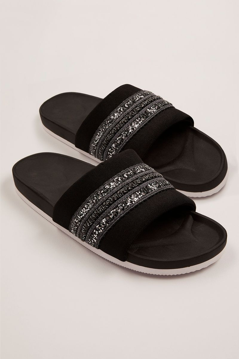Embellished Black Sliders