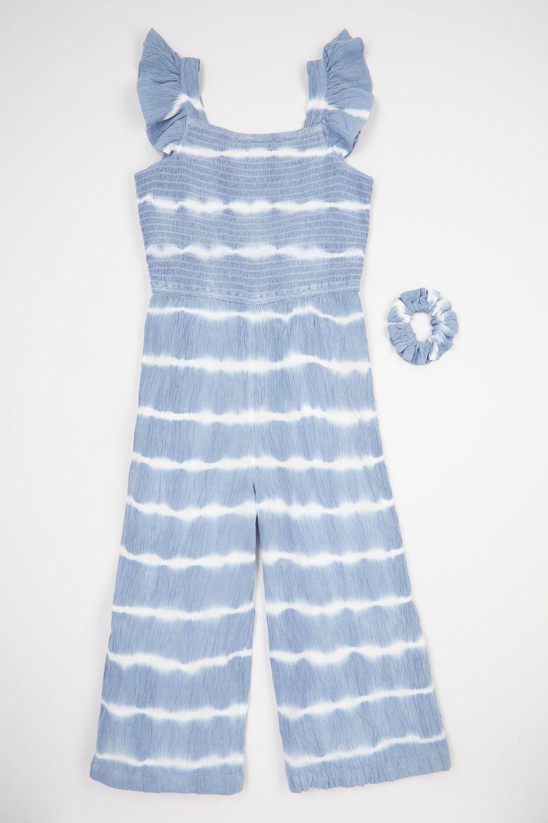 Tie Dye Jumpsuit & scrunchie