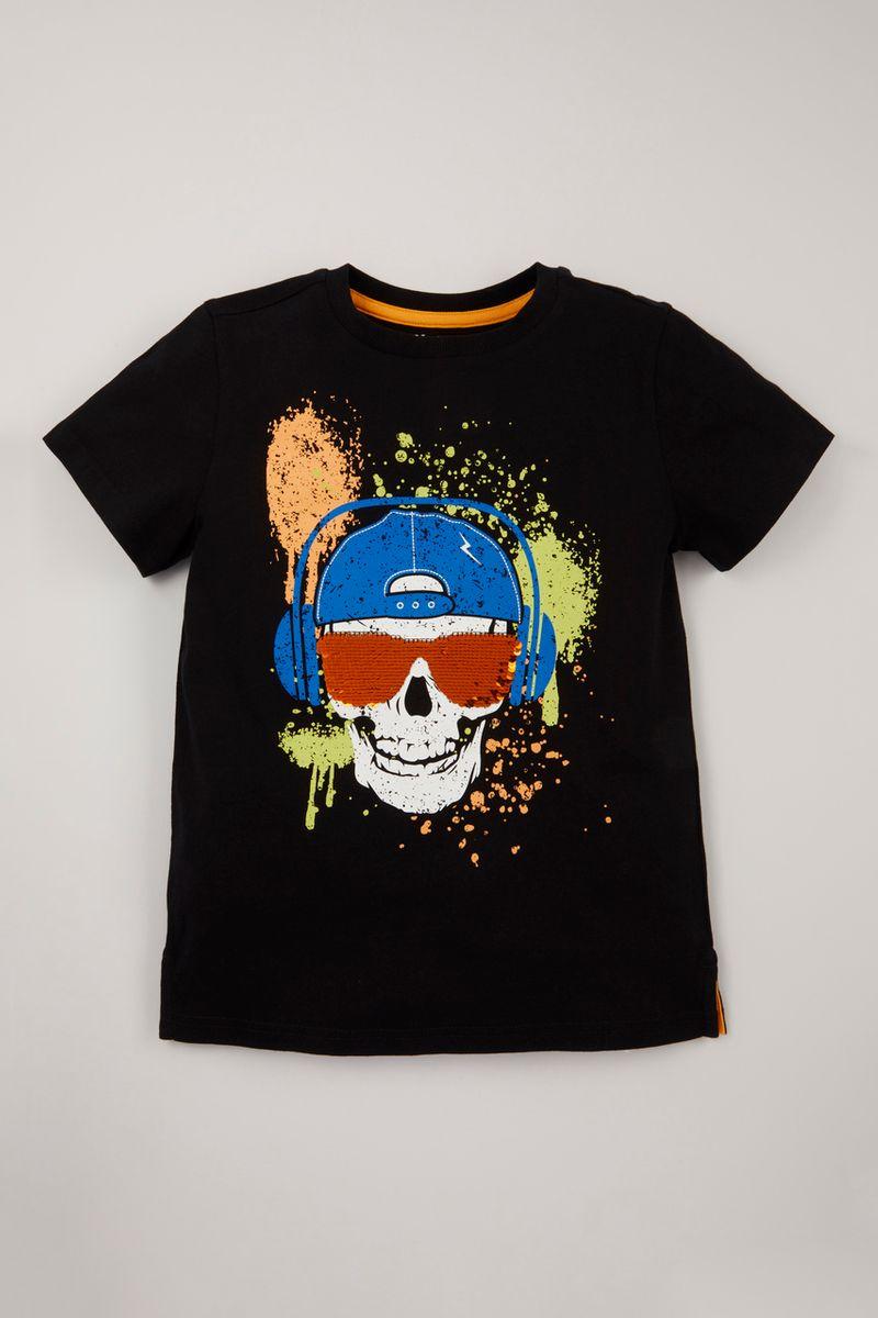 Skull Flip Sequin T-shirt