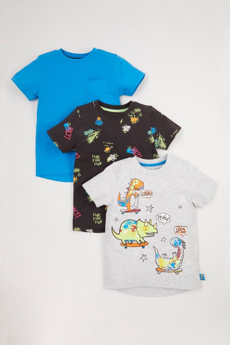 3 Pack Dinosaur Skate T-shirts