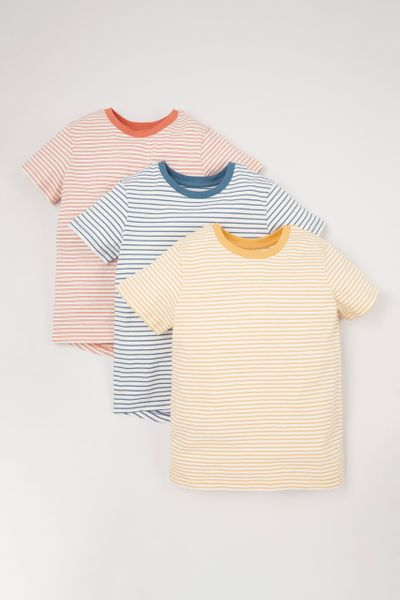 3 Pack Colourful Stripe T-shirts