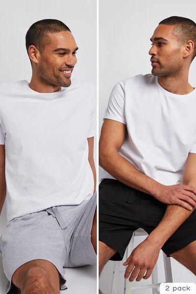 2 Pack Black & Grey Shorts