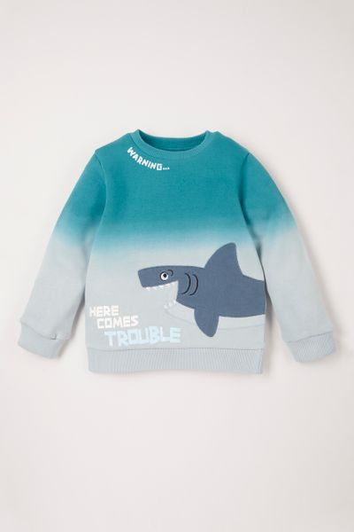 Shark Applique Sweatshirt