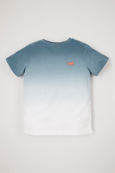 Dip Dye Embroidered T-shirt