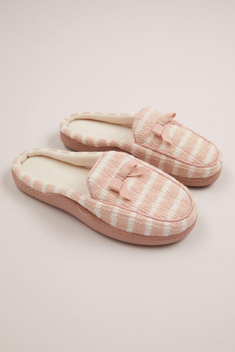 Pink Stripe Cupsole Slippers