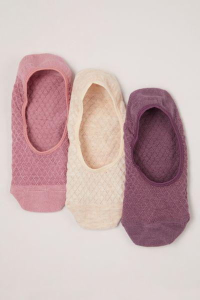 3 Pack Textured Footsies